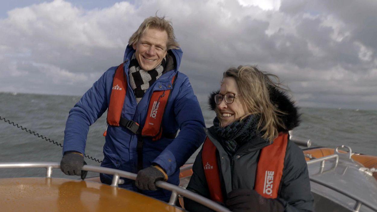 Afbeelding van Willemijn Veenhoven en Menno Bentveld in nieuw seizoen Vroege Vogels TV
