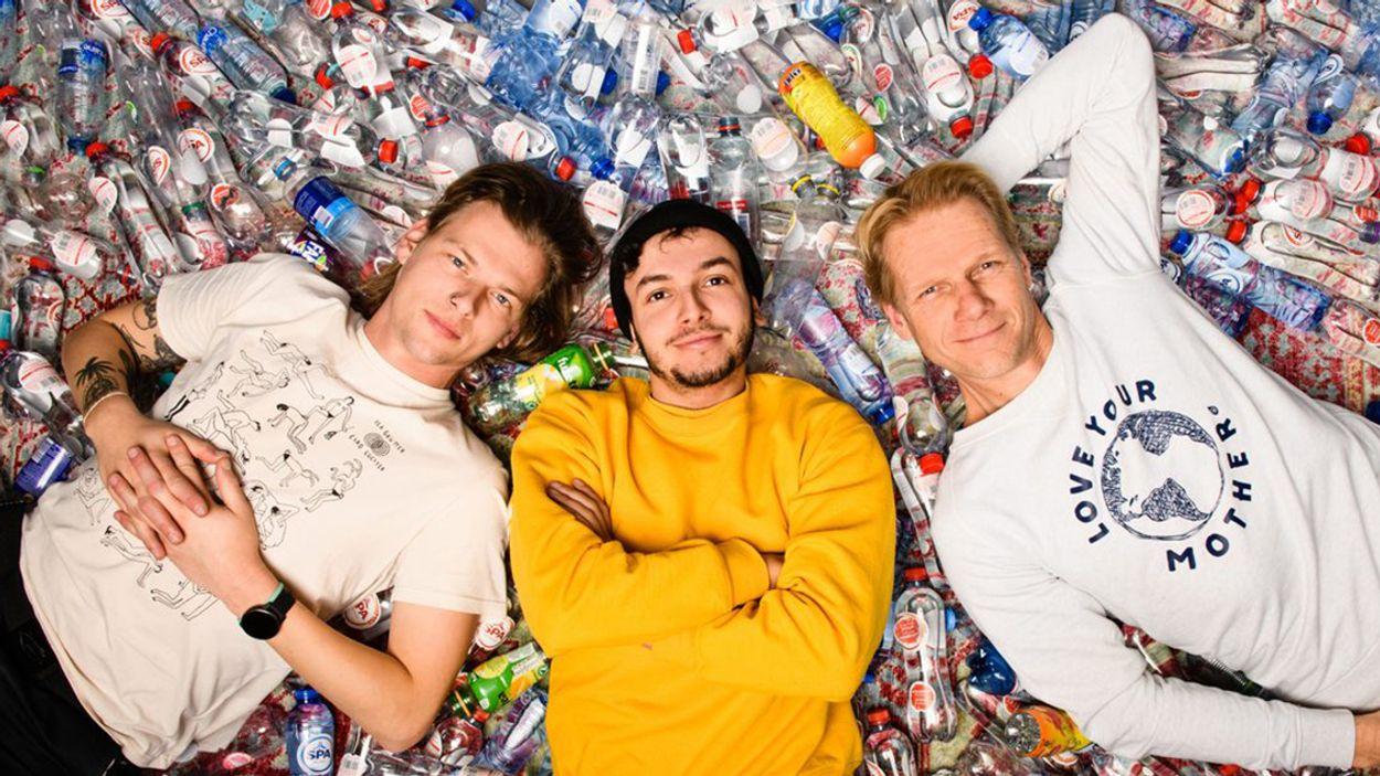 Afbeelding van Sander, Sahil en Menno lanceren de track 'Kraanwater' tegen plastic wegwerpflesjes